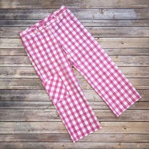 Lilly Pulitzer Gingham Grande Putter Capris Size 2
